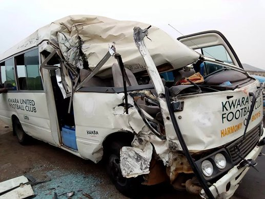 Exclusive: Kwara United players, officials involved in auto crash