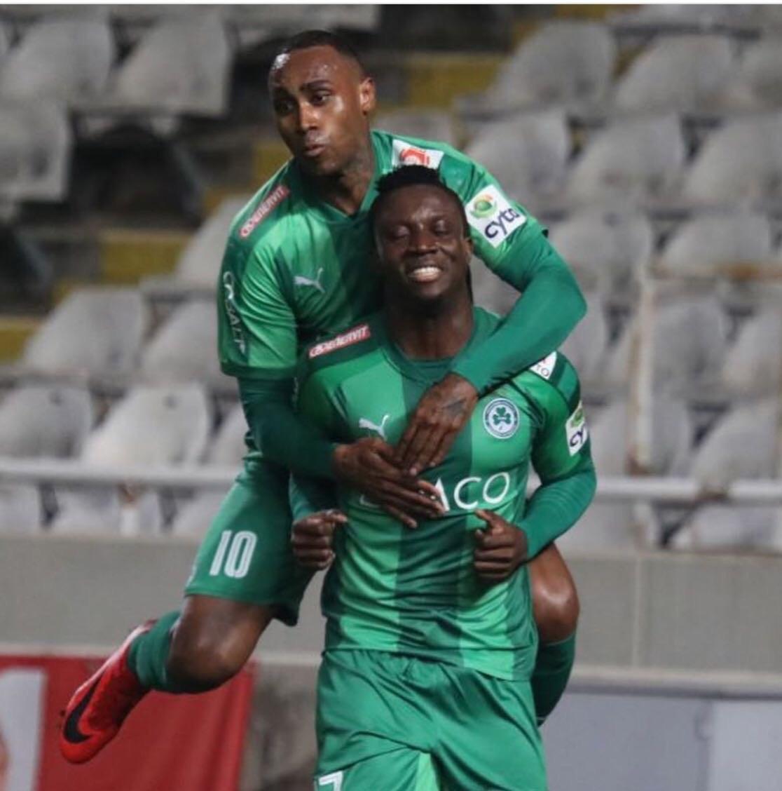 Theophilus Solomon Scores First Goal For Cyprus Giant Omonia Nicosia, Reveals Goal Target