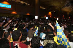 Musa Gets Heroic Welcome On Arrival At Al Nassr
