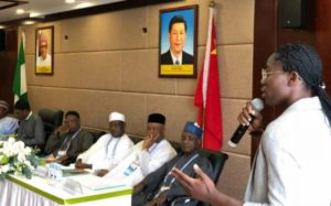 Super Falcons star Asisat Oshoala meets President Buhari in China