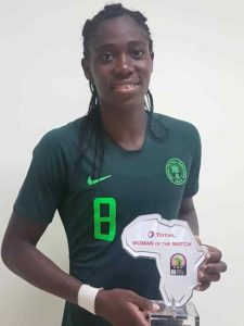 Oshoala Bags WOTM Award In Nigeria Win Against Equatorial Guinea