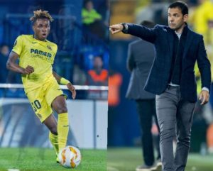 Villarreal Coach Calleja Lauds Chukwueze, Teammates For Round Of 16 Spot in the Copa del Rey