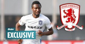 Mikel completes move to Middlesbrough after passing medical