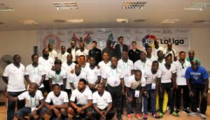 LaLiga Coaches Conduct Clinic For NPFL Youth Coaches