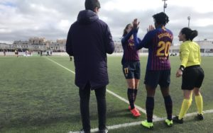 Oshoala Scores On Barcelona Ladies Debut, Nets Fourth Goal In 4-0 Win Vs Rayo Vallecano