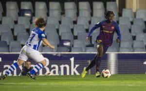 Oshoala Celebrates Brace Heroics In Barcelona Ladies Defeat To Huelva