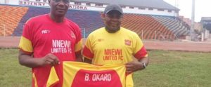 Ex-Eagles Midfielder Okaro Assumes Duties As Nnewi United Coach, Conducts Screening Exercise