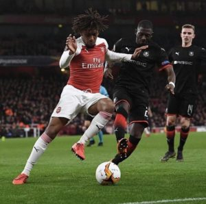 Iwobi Celebrates Arsenal's Europa League Quarter-Final Feat