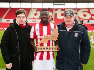 Etebo wins Stoke City's SW player of the year award