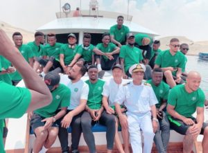 Super Eagles Enjoy Boat Cruise In Ismailia Ahead AFCON 2019