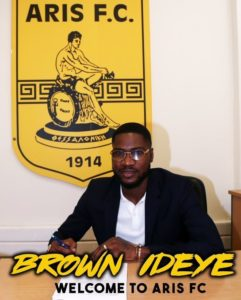 Ideye Joins Greek Club Aris On One- Year Contract