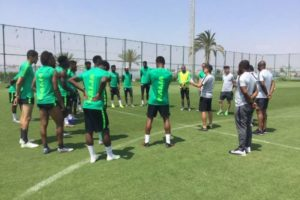 Amaju Pinnick, Shehu Dikko, Mohammed Sanusi pump up Super Eagles' spirit