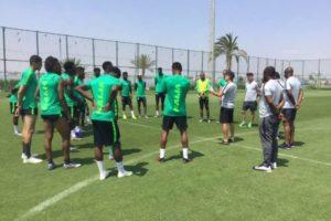 Amaju Pinnick, Shehu Dikko, Mohammed Sanusi pump up Super Eagles' spirit