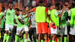 Kanu join Super Eagles to celebrate beating Bafana Bafana