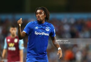 Alex Iwobi in Action as Everton lost to Aston Villa