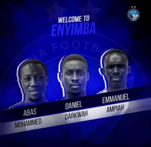 Enyimba Add Three Ghanaian Players To Bolster Squad For New Season