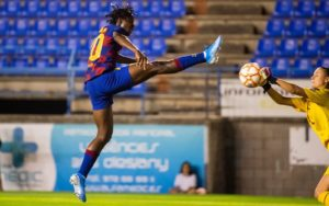 Asisat Oshoala scores yet again, helps Barcelona reach Copa Final