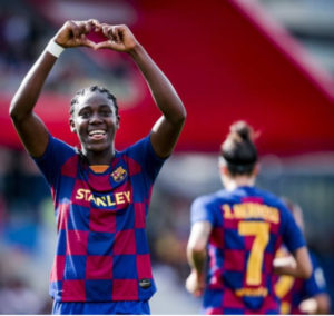 Oshoala opens new season's goals account as Barca hammer Atleti 6-1