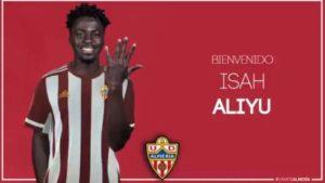 Almeria Announce Signing Of Little Known Nigerian Forward Aliyu AKA Di Maria