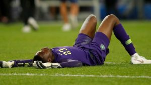 Uzoho stretchered off against Brazil