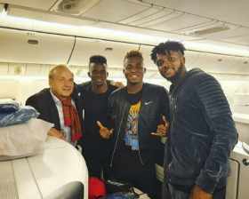 Iwobi, Ndidi, Chukwueze, Seven Super Eagles Invitees Land In Singapore Pre-Brazil; Aina Excused