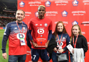 Osimhen Wins Lille's player of the Month Award