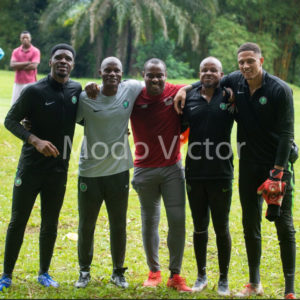 AFCON Qualifiers: Vincent Enyeama Joins Super Eagles In Training
