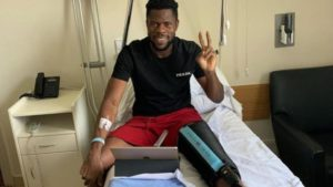 knee operation 'a success':Francis Uzoho