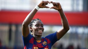 Oshoala bags brace as Barcelona ease past Rayo Vallecano