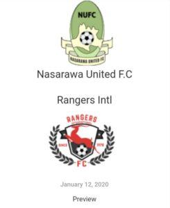 Nasarawa United F.C V Rangers Intl