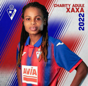 Charity Adule Extends contract with Eibar untill 2022