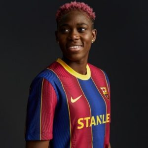 Barcelona Star Oshoala queries Africans' attitude to women football