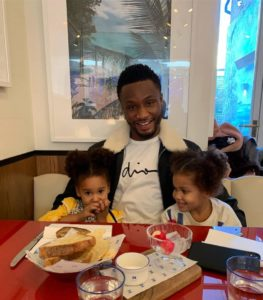 Proud dad Mikel over the moon on twin daughters' first day at school