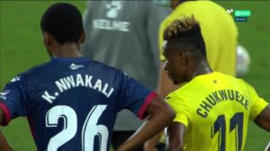 Nwakali: It felt good playing against Chukwueze on my debut