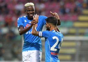 Osimhen credited for Napoli's season opening win over Parma