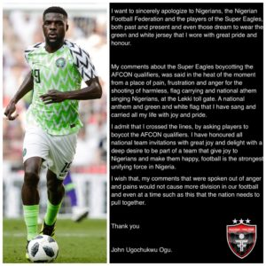 John Ogu 'eats back' calls on Super Eagles players to boycott matches