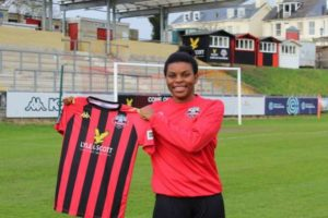 Exclusive! Super Falcons striker Ini Umotong joins Lewes from Vaxjo