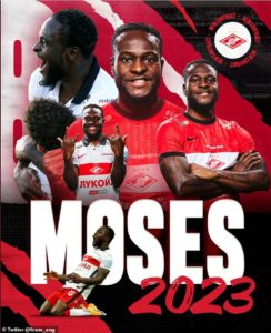 OFFICIAL: Victor Moses Joins Spartak Moscow permanently