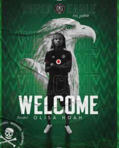 Olisa Ndah signs three-year deal with South Africa's Orlando Pirates