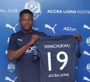 Ghanaian side Accra Lions announce the signing of Nigerian forward Uzondu Nwachukwu