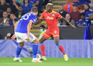 Osimhen's brace cancels Iheanacho's Leicester two goals lead to draw at King power Stadium