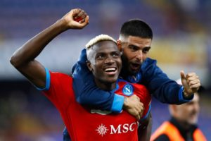 Victor Osimhen strikes double as Napoli surge back to top of Serie A