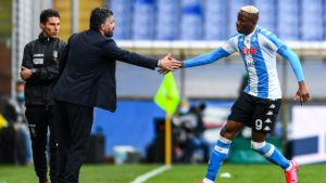 Victor Osimhen brace  help Napoli secure vital point in Europa League tie against Leicester