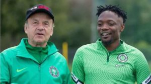 Musa thanks Nigerians after making 100th Super Eagles appearance in win vs CAR